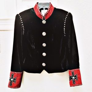 Double D Ranch Black Velvet Jacket Blazer